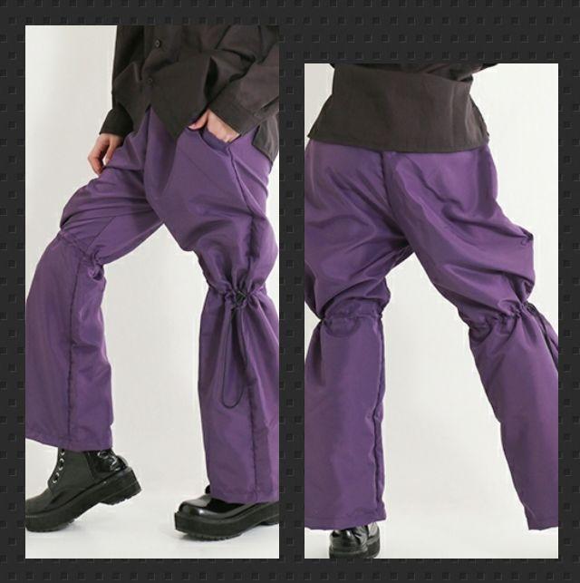 Drughoney【ユニセックス】ドローコード入パンツ黒