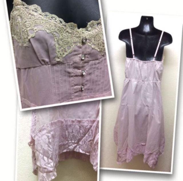 インディオ刺繍レース付ドレス未使用・タグ付