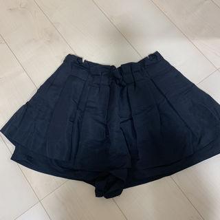 キュロット ウエストプリーツ スカート