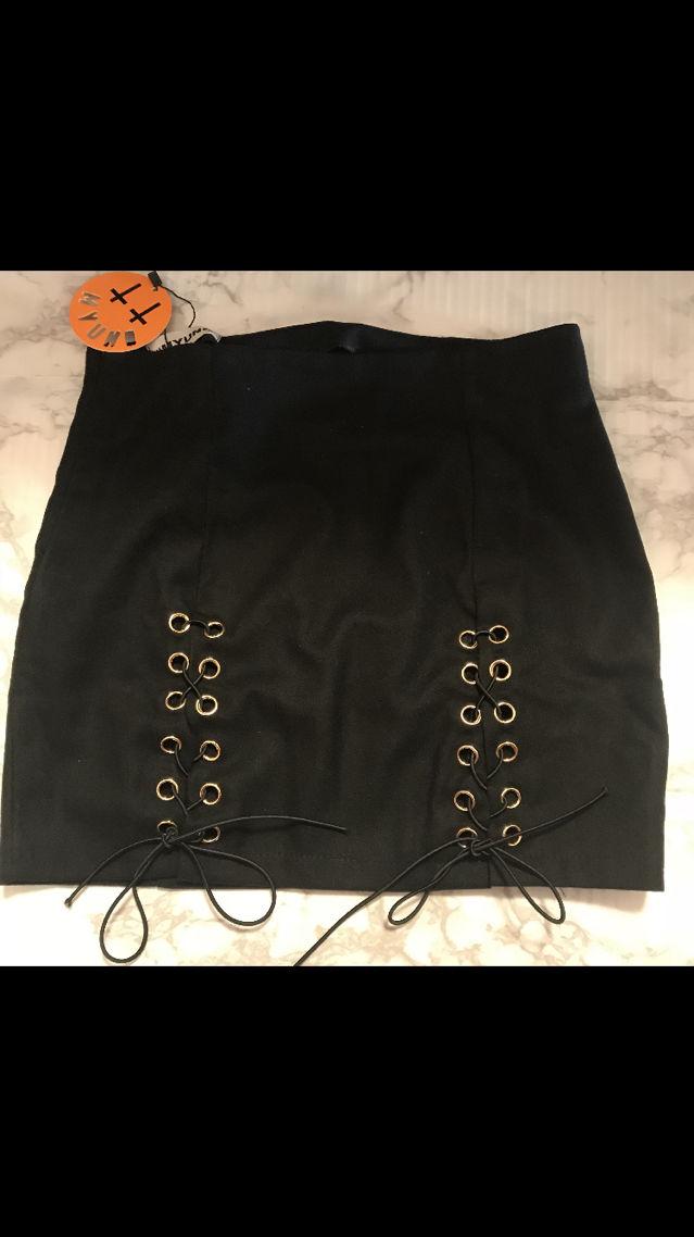 MYUNO 編み上げ タイト スカート