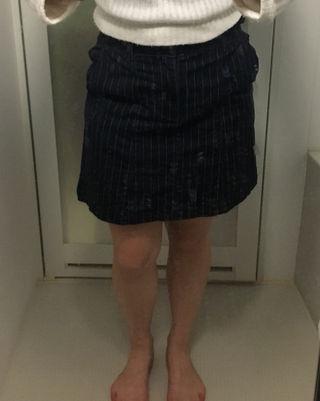 安い!ストライプタイトスカート
