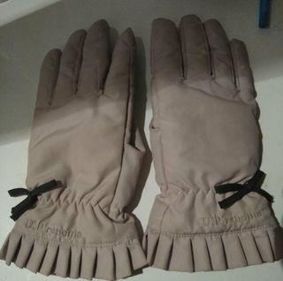 renoma上品リボンベージュ手袋