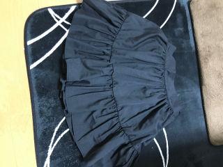 今季ミシェルマカロン インナーパンツ付きスカート 黒