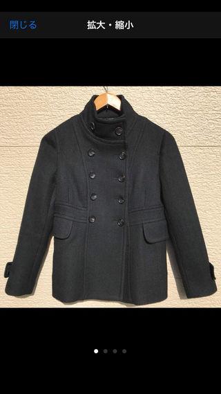 美品 MACPHEE コート 黒 ブラック ウール 38