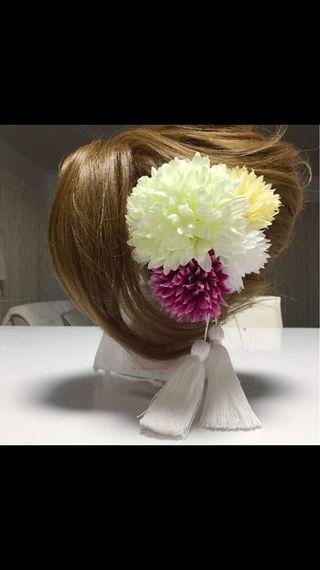 豪華!ウェディング 髪飾り 卒業式 成人式 着物 タッセル