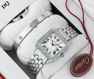 3点セットCartier腕時計 ブレス リング