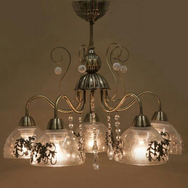 ヨーロピアン シャンデリア ランプ 5灯 アンティーク照明 - フリマアプリ&サイトShoppies[ショッピーズ]