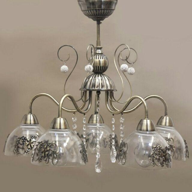 ヨーロピアン シャンデリア ランプ 5灯 アンティーク照明