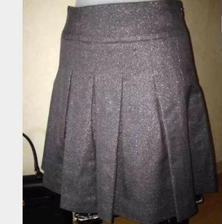 オリゾンティ スカート M ラメ パープルグレー プリーツ