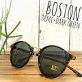 【新品未使用】ボストン サングラス デミ/グリーン ゴールド