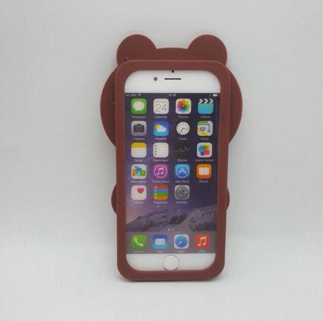 LINE ブラウンiPhone 6/6sケース カバー