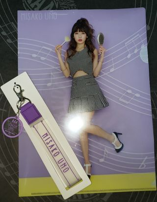 AAA宇野実彩子キーチェーン&クリアファイルのセット