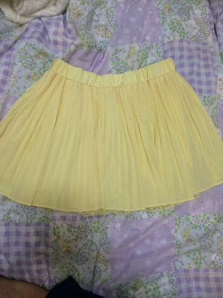 Momo プリーツスカート 黄色