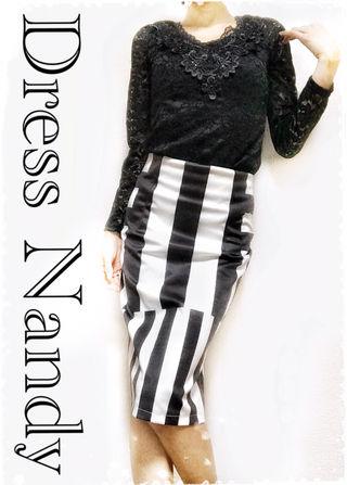 【DressNandy】ブラックトップスペンシルスカート