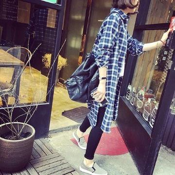 ☆ストライプ柄コットンロングボタンシャツ☆ - フリマアプリ&サイトShoppies[ショッピーズ]