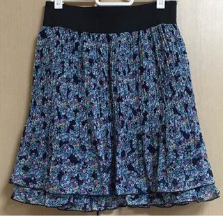 プロポーション小花柄スカート