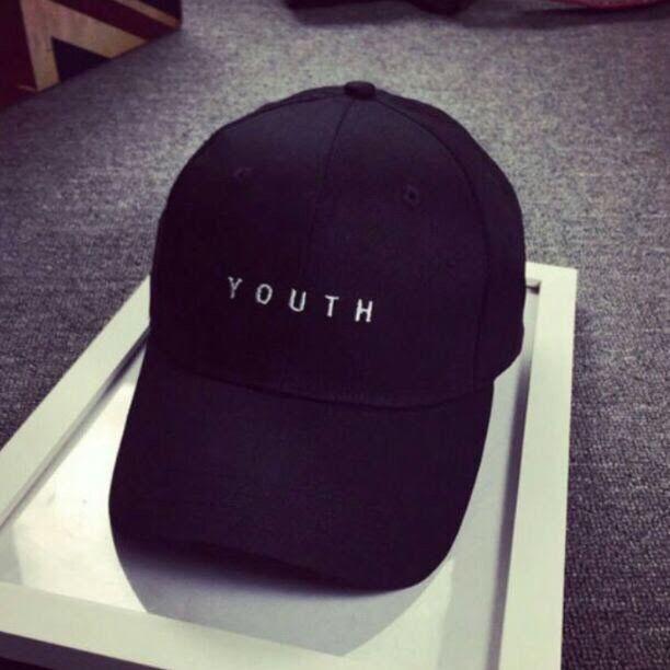 YOUTH ロゴ キャップ シンプル 帽子 黒 - フリマアプリ&サイトShoppies[ショッピーズ]