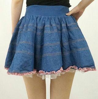《新品未使用》ワンスポ デニムスカート