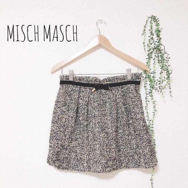 MISCH MASCH ツイード柄スカート(MISCH MASCH(ミッシュマッシュ) ) - フリマアプリ&サイトShoppies[ショッピーズ]