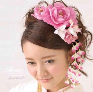 成人式  卒業式 髪飾り ピンク