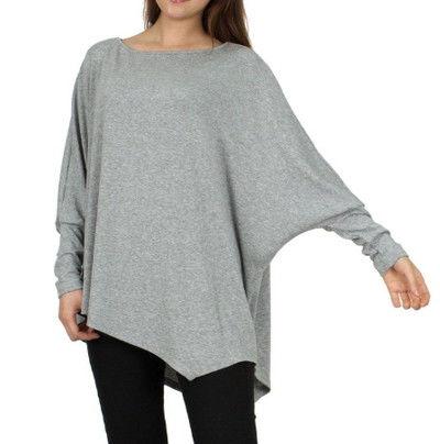 裾斜めカット シャツ シャツ シンプル  グレー
