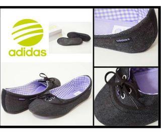 新品adidasアディダスNEO LINA黒系×紫他23cm