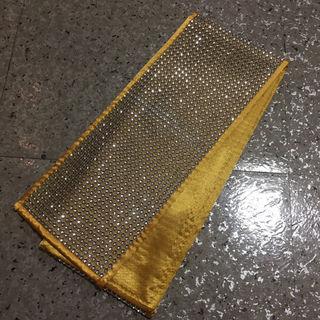 数量限定新品 黄色 ゴージャスラインストーン付き重ね衿