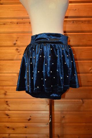 《新品》Tralala パール付ベロアスカート