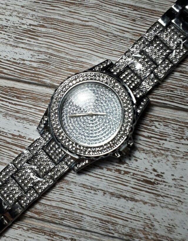 シルバー ラインストーン 腕時計 メンズ レディース スワロ