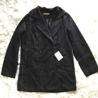 【新品】 柔らかいコート ブラック