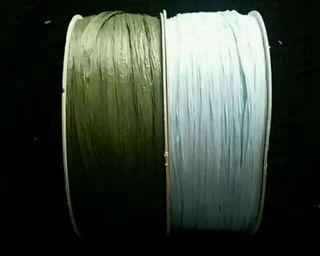 緑と水色のビニールテープ