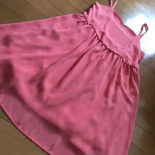 ピンク サテン ワンピース