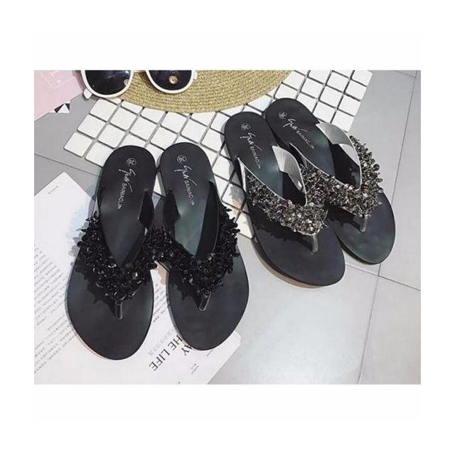 ビジューサンダル/ビーチサンダル/靴★v-ali-829【2