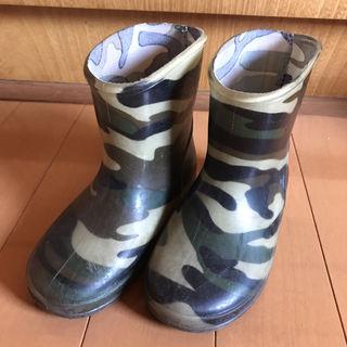 迷彩柄 長靴
