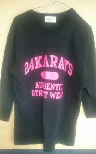24karats 七分袖 Tシャツ