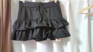 TRALALA黒ひらミニスカート#0 定価6195→