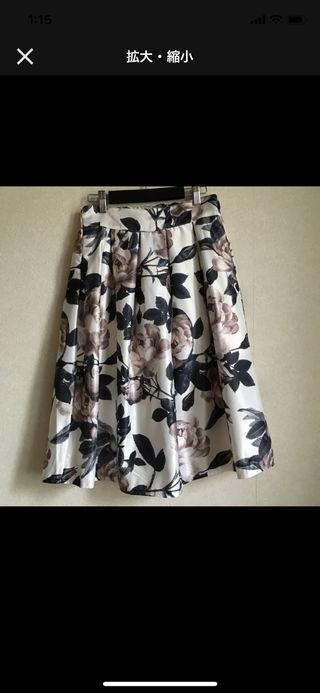膝丈スカート  花柄