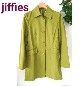 jiffies ジフィズ ステンカラー コート グリーン