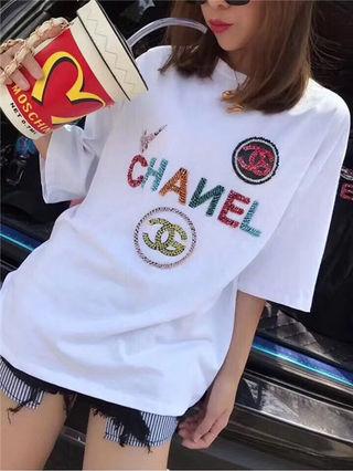 シャネル春夏Tシャツカップル 半袖カットソー