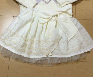 LIZLISA ふわふわ 花柄 スカパン ホワイト 美品