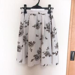 膝丈スカート 花柄 PAGEBOY