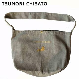 TSUMORI CHISATO グレー猫マーク布トートバッグ