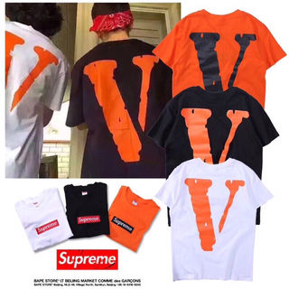 2枚セット supreme 男女兼用 超人気 tシャツ