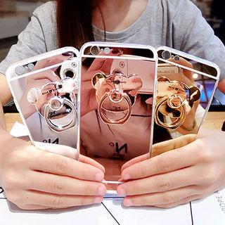 17☆ベアーリング付きミラーiPhoneケース☆全3色