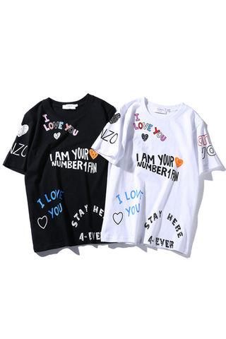 カップル 色選択可 半袖シャツ