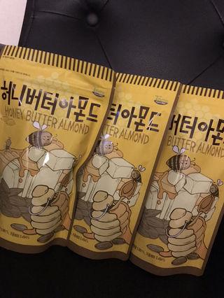 韓国大人気 ハニーバターアーモンド3個セット
