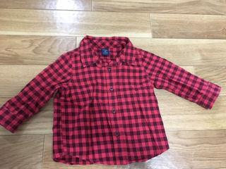 90㎝ GAP 赤×黒ブロックチェックシャツ