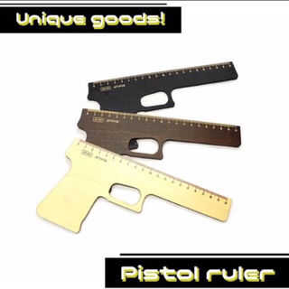 ものさし 定規 銃 ピストル  20cm  おもしろ雑貨