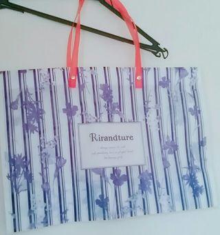 【Rirandture】ショップ袋