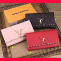 最高品質超人気新品+L.V+素敵本革財布+国内発売